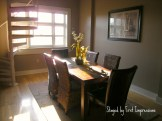 staged loft dining room