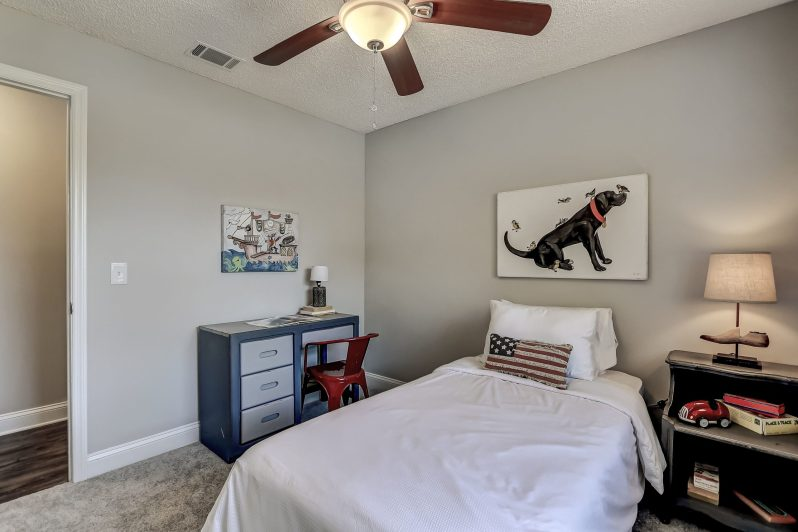 Check out how we staged this boys bedroom