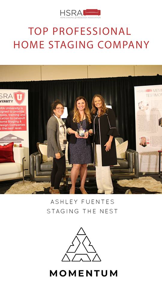 Staging The Nest - Team Photo - Top 10 Staging Company Award - HSRA - Momentum