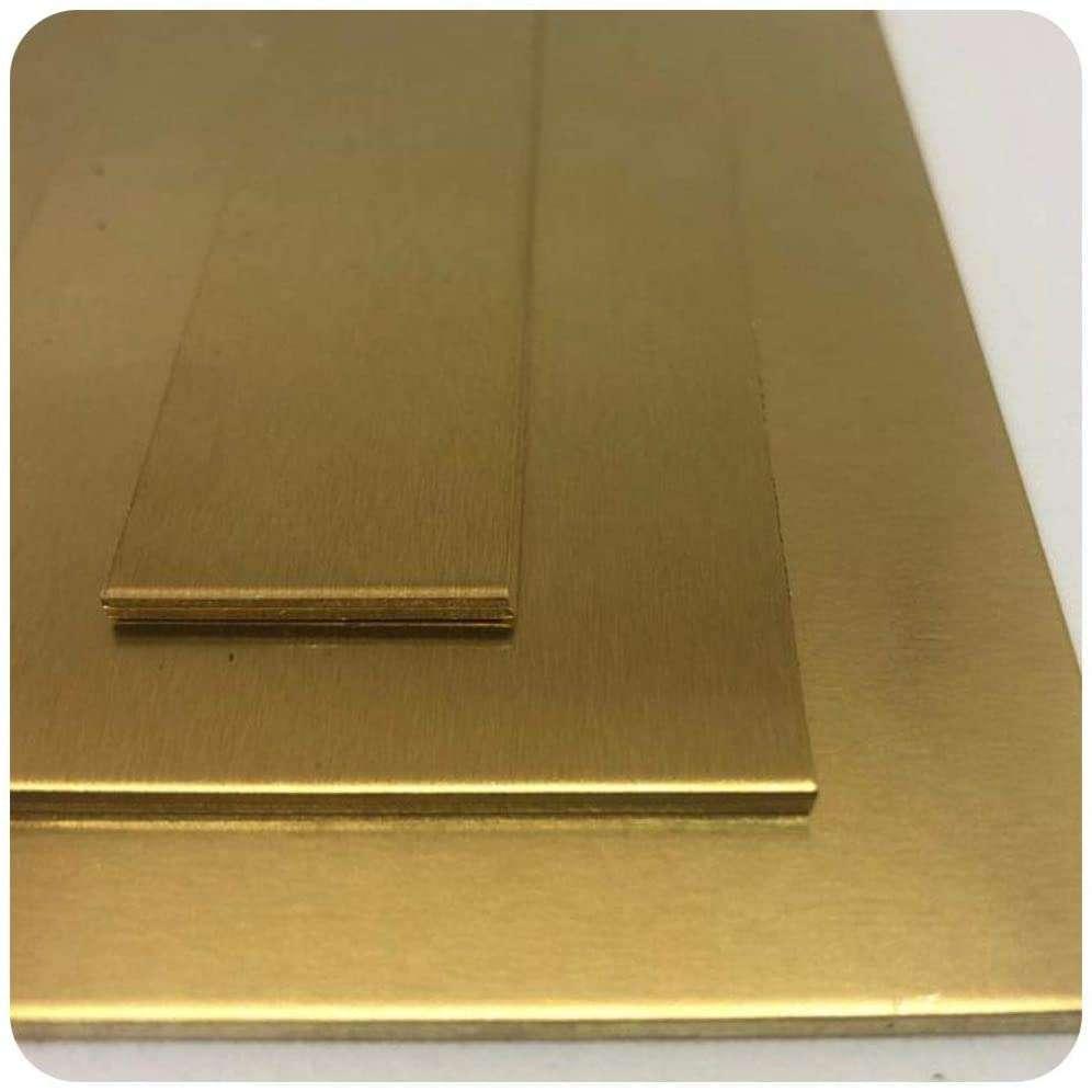 Messingblech von Stahlog | MS63 | CUZN 37 | R350 | Stärke: 0,5 mm