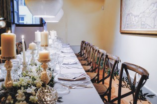 Dining table set up by The Tuscan Wedding