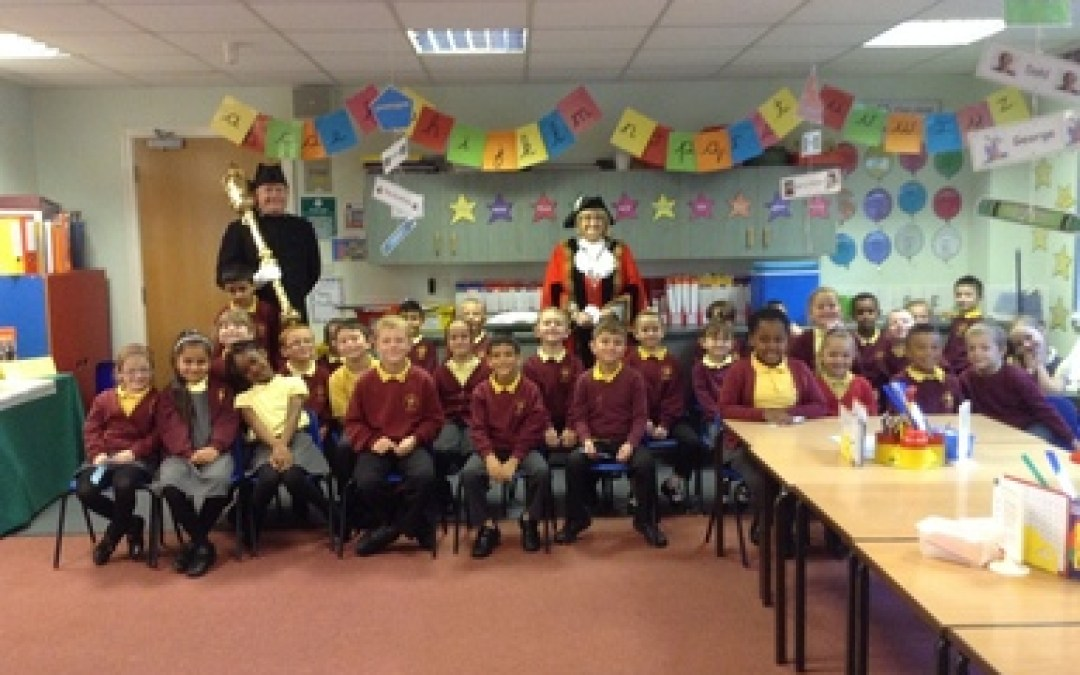 The Deputy Mayor of Gateshead visits St Aidan's