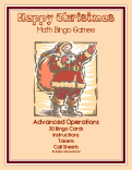 christmas advanced operations math bingo