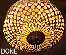 Large Repaired stained glass Shade