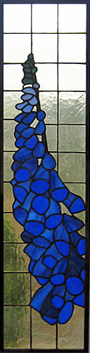 Foxglove in stained glass