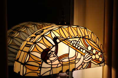 Saxophone Stained Glass Lamp