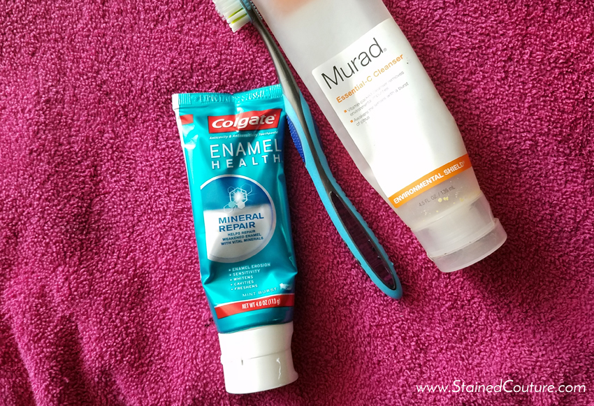 fall morning routine colgate murad