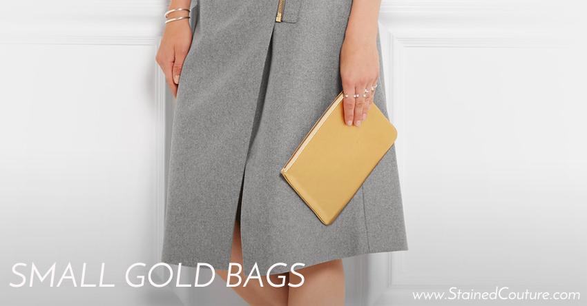 small gold bags
