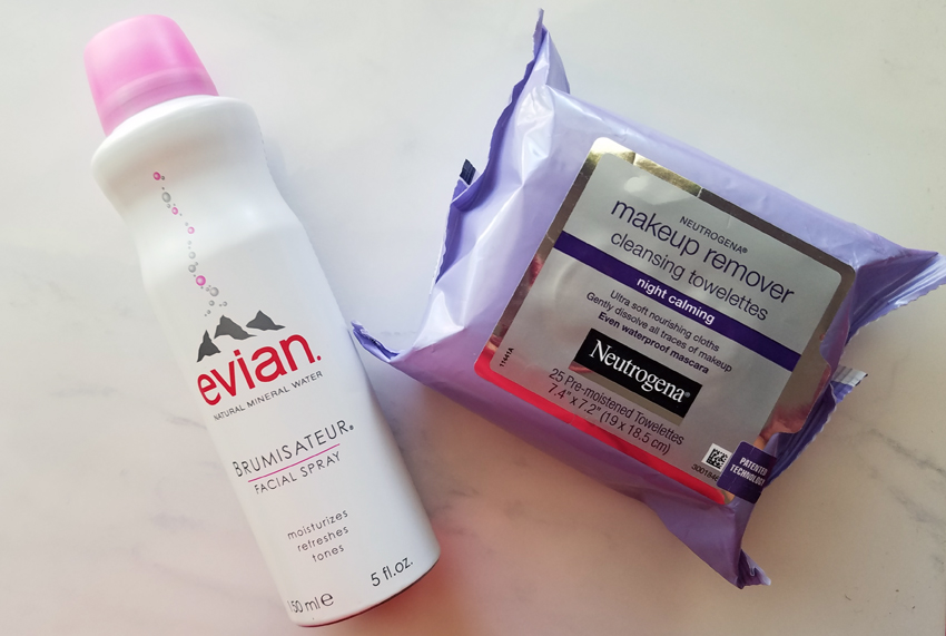 lazy ways to remove makeup mineral spray and wipes