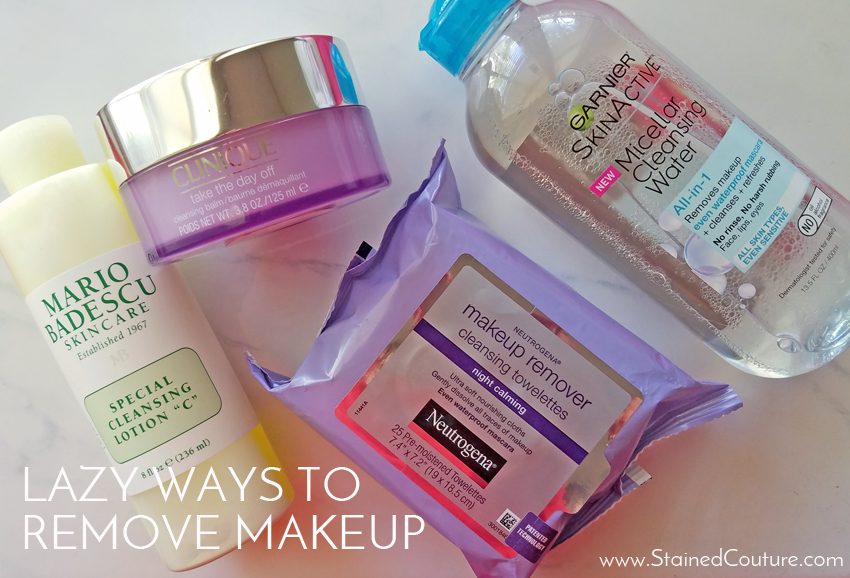 lazy ways to remove makeup