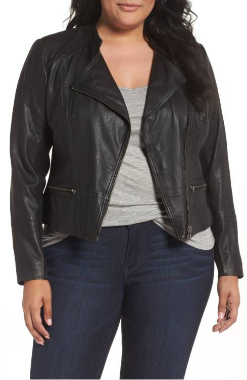 Nordstrom Anniversary Sale Sejour leatehr moto jacket