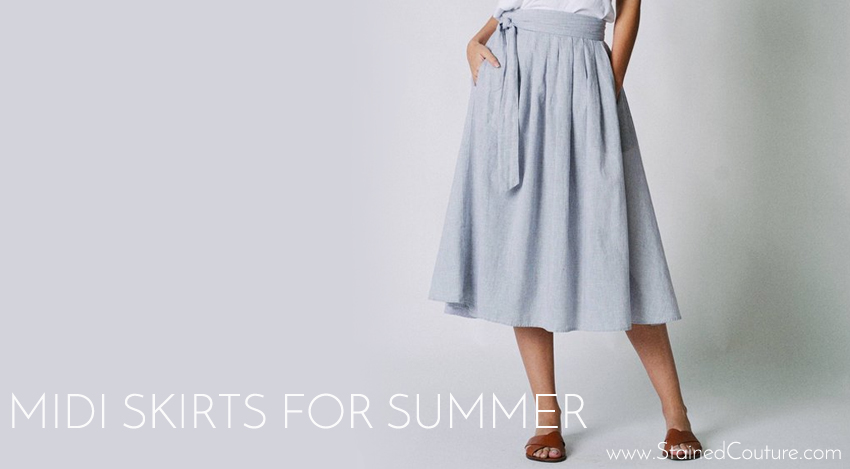 midi skirts for summer