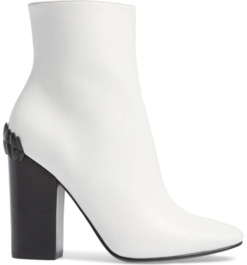 KENDALL + KYLIE Hasedyn white booties