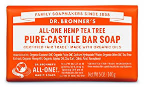 Dr. Bonner's tea tree bar soap