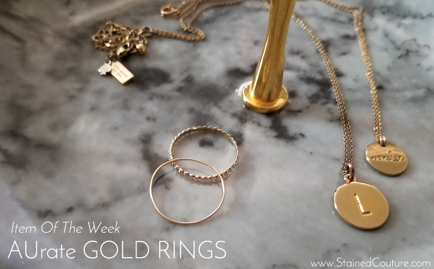 Item of teh Week: AUrate Gold Rings