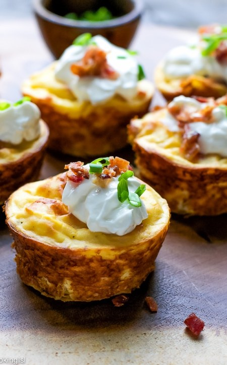 Muffin Tin Potato and Bacon Cups from Cooking LSL