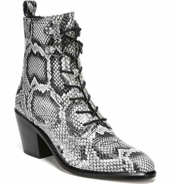 Shoes You Need for Fall 2019 | Faux Snakeskin Lace-Up Booties