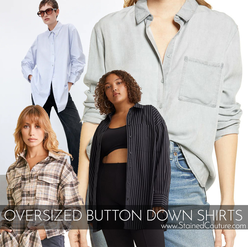 Oversized Button Down Shirts | STAINED COUTURE