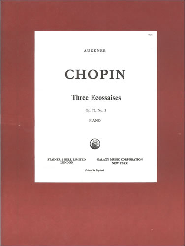 Chopin, Frédéric François: Ecossaises, Three. Op. 72, No. 3