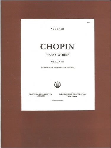 Chopin, Frédéric François: Polonaise In A Flat, Op. 53