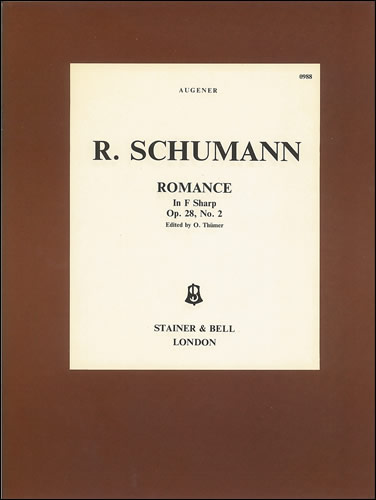 Schumann, Robert: Romance In F Sharp, Op. 28, No. 2