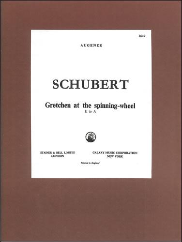 Schubert, Franz: Gretchen Am Spinnrade ('Gretchen At The Spinning Wheel'). D Minor