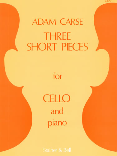 Carse, Adam: Three Short Pieces For Cello And Piano
