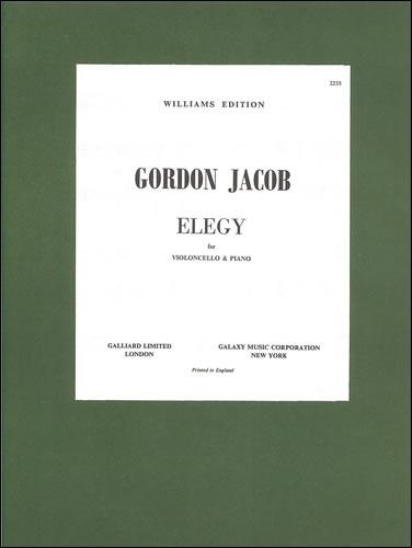 Jacob, Gordon: Elegy For Cello And Piano