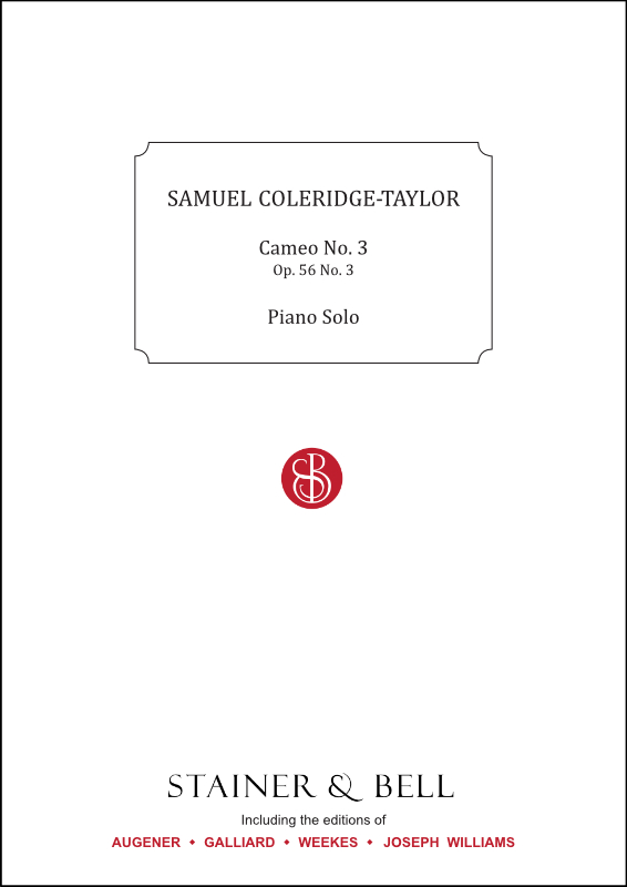 Coleridge-Taylor, Samuel: Cameo No. 3, Op. 56 No. 3. Piano Solo