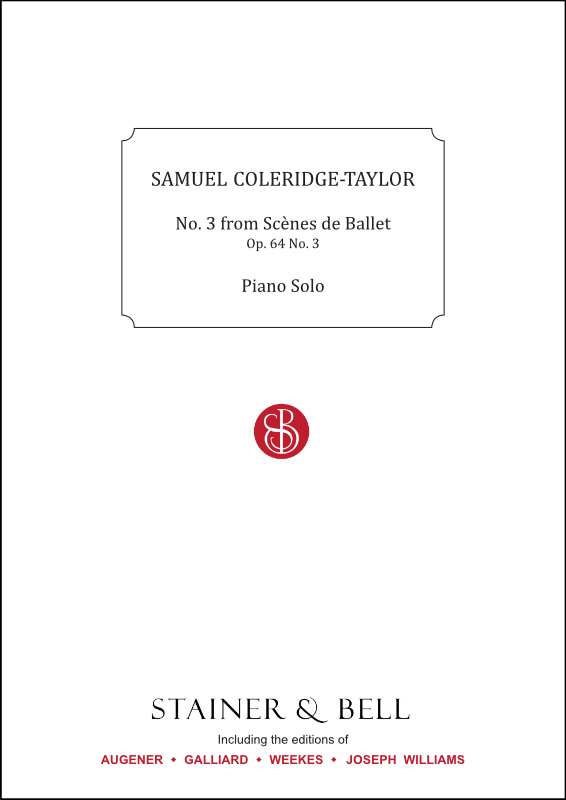 Coleridge-Taylor, Samuel: No. 3 From Scènes De Ballet, Op. 64 No. 3. Piano Solo