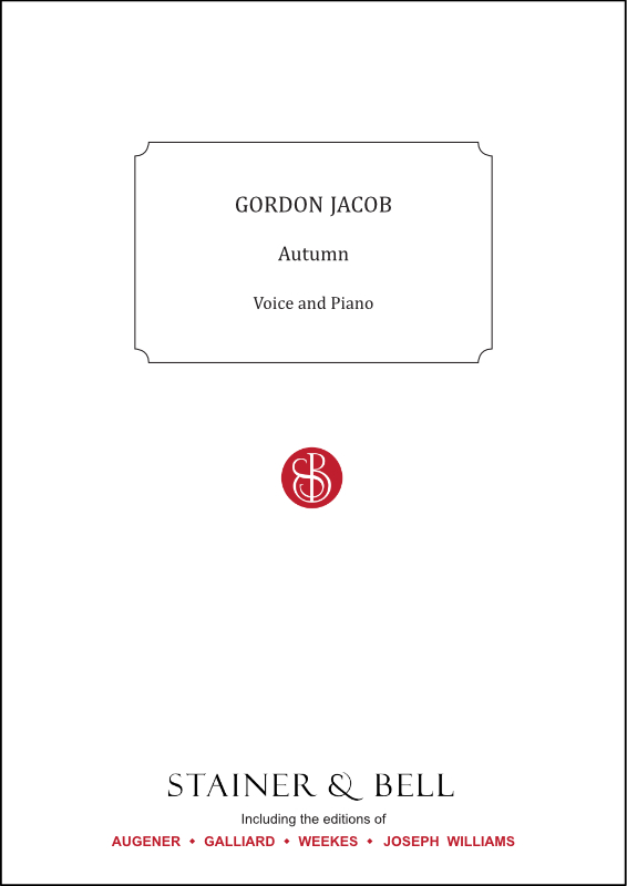 Jacob, Gordon: Autumn. Unison Song