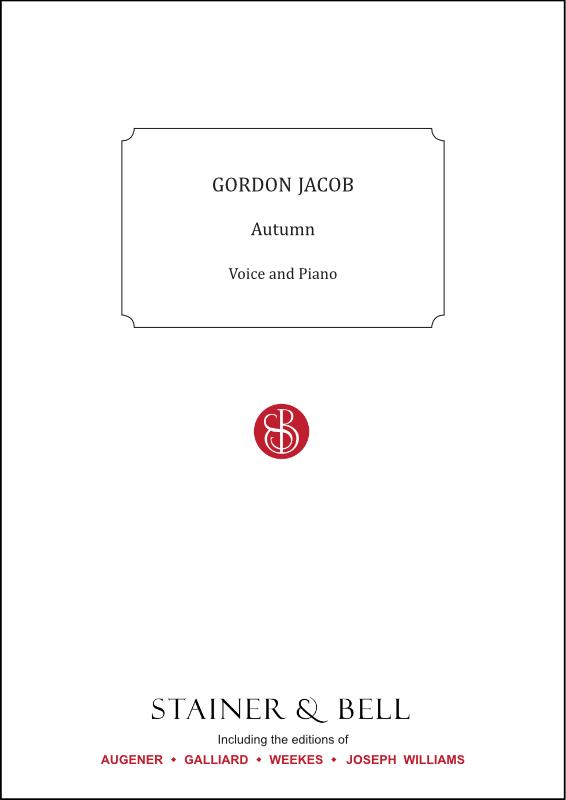 Jacob, Gordon: Autumn. Unison Song