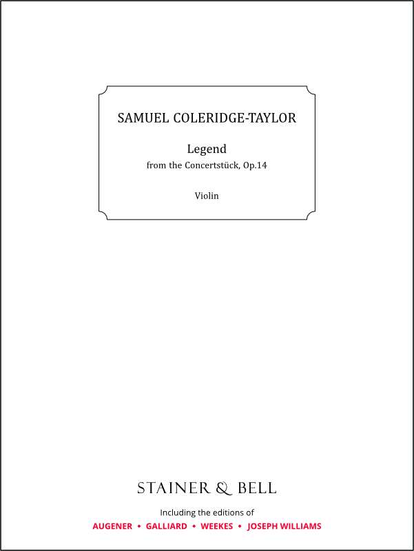 Coleridge-Taylor, Samuel: Legend From The Concertstück Op.14