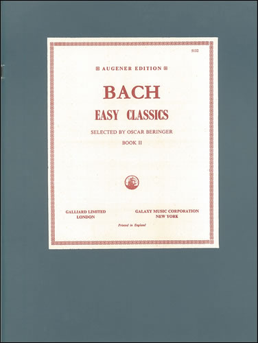 Bach, Johann Sebastian: Easy Pieces. Book 2