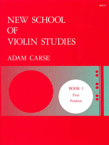 Carse, Adam: New School Of Violin Studies. Book 1