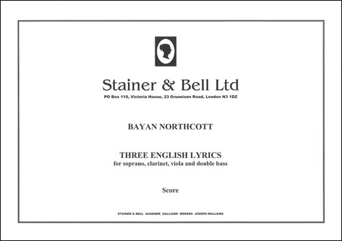 Northcott, Bayan: Three English Lyrics