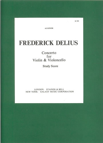 Delius, Frederick: Double Concerto For Violin, Cello And Orchestra: Study Score