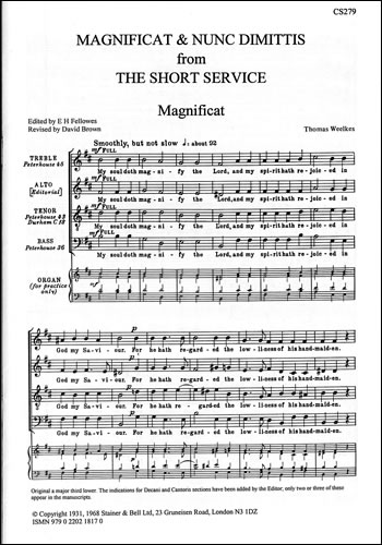 Weelkes, Thomas: Magnificat And Nunc Dimittis (The Short Service)