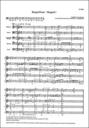 Fayrfax, Robert: Magnificat 'Regale'