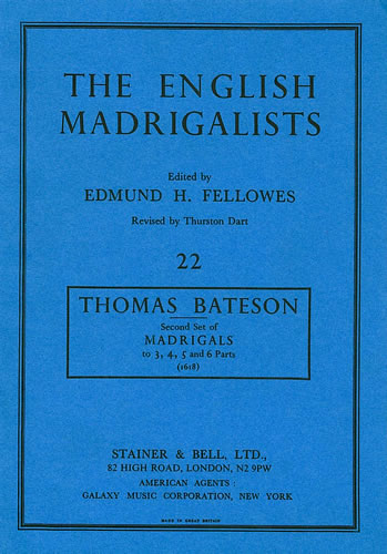 Bateson, Thomas: Second Set Of Madrigals (1618)
