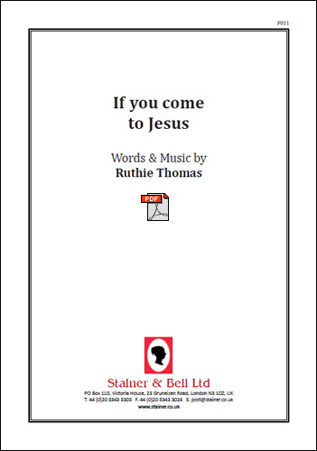 Thomas, Ruthie: If You Come To Jesus. PDF File