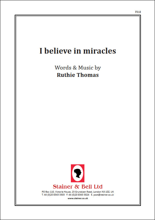 Thomas, Ruthie: I Believe In Miracles. PDF File