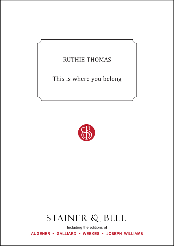 Thomas, Ruthie: This Is Where You Belong. PDF File