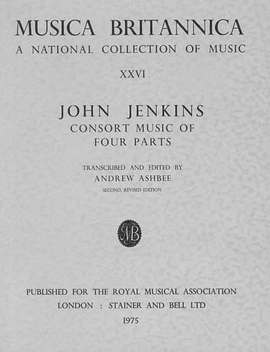 Jenkins, John: Consort Music In Four Parts