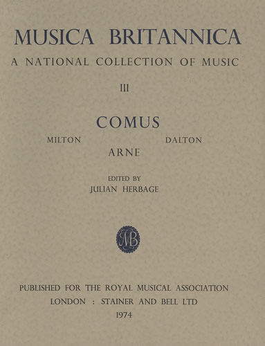 Arne, Thomas: Masque Of Comus, The