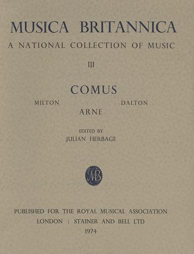 Arne, Thomas: Masque Of Comus, The