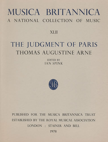 Arne, Thomas: Judgment Of Paris, The