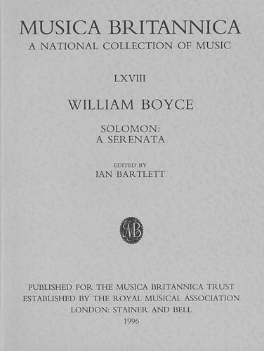 Boyce, William: Solomon: A Serenata