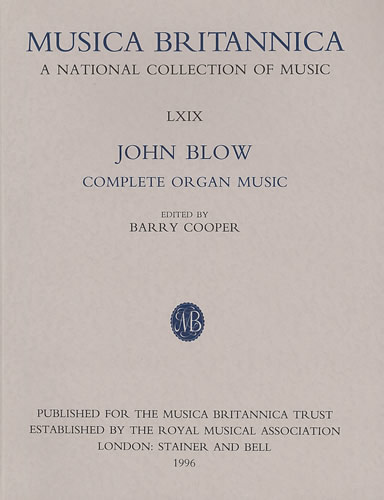 Blow, John: Complete Organ Music