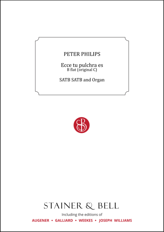 Philips, Peter: Ecce Tu Pulchra Es. B Flat (orig. C)